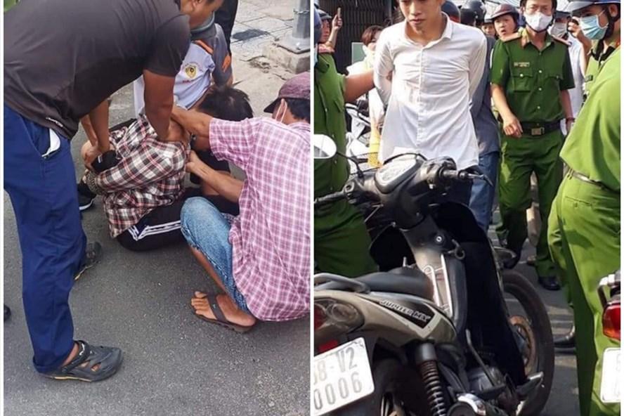 Hào và Phú bị bắt giữ khi mang súng đi cướp ngân hàng.