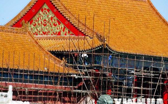 """Cung điện trong Tử Cấm Thành vẫn được """"thăm khám"""" định kỳ hàng năm. Ảnh: Tân Hoa Xã."""