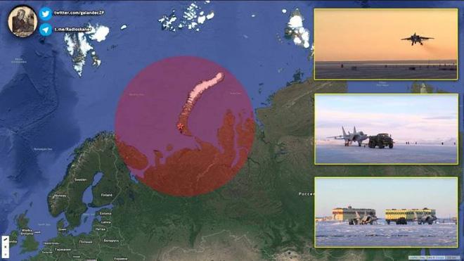 Các tiêm kích đánh chặn siêu thanh MiG-31 của Không quân Nga ở Đảo Severny sẽ trở thành trở ngại lớn nhất của máy bay ném bom Mỹ nếu họ muốn tiến sâu vào Bắc Cực. Ảnh: Topcor.