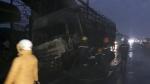 Ninh Bình: Xe tải bốc cháy trên QL.1, giao thông ùn tắc cục bộ