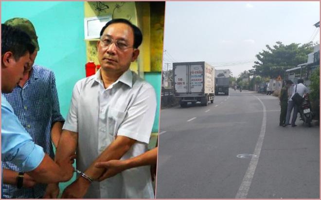 Ông Ngưu bị công an bắt khẩn cấp (ảnh trái) và nơi xảy ra vụ án mạng.
