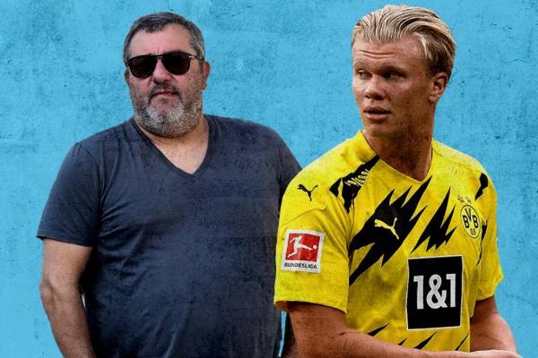 Dortmund từ chối bán Haaland, 'siêu cò' Raiola không đồng tình