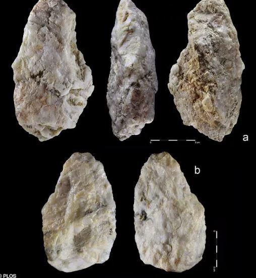 Một số công cụ đá thạch anh cổ đại - Ảnh: Plos One
