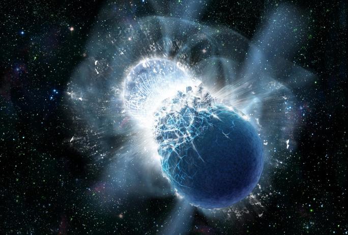 """Một vụ nổ hay va chạm sao neutron có thể tạo ra """"đại hồng thủy"""" ngoài hành tinh - Ảnh đồ họa: Dana Berry, SkyWorks Digital."""