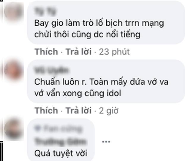 Phản hồi của dân mạng dưới bài đăng của Vũ Duy Khánh.