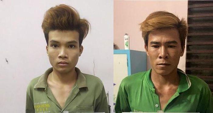 Phạm Tất Linh và Trương Văn Tuấn tại cơ quan điều tra (Ảnh Công an cung cấp)