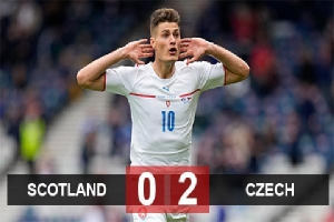Kết quả Scotland 0-2 Czech: Người hùng Schick