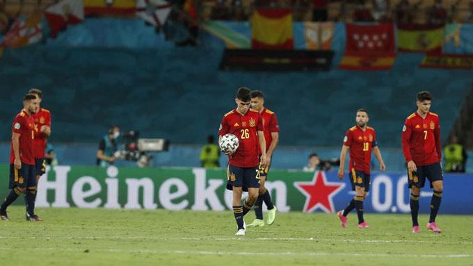 Tây Ban Nha sở hữu bóng vượt trội nhưng mới chỉ có được 1 bàn thắng