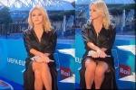 Nữ MC nóng bỏng người Italia để lộ 'điểm nhạy cảm' khi đang bình luận EURO 2020 trên sóng truyền hình