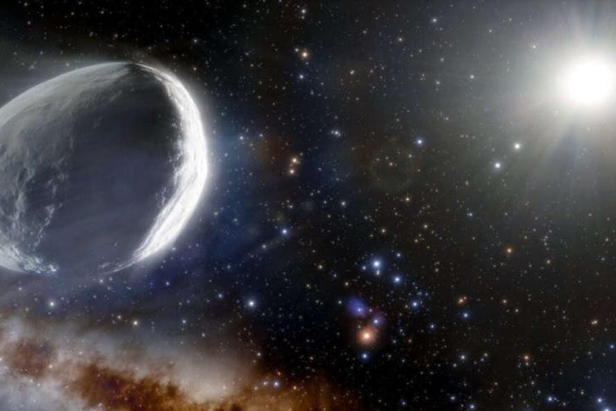Minh họa hình dạng sao chổi Bernardinelli-Bernstein có thể được nhìn thấy trong Hệ Mặt trời. Ảnh: Quỹ Khoa học Quốc gia Mỹ