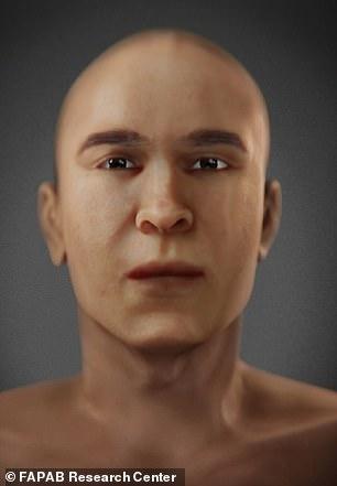 Hình ảnh tái tạo khuôn mặt vua Tutankhamen và Akhenaten. 2 người có nhiều nét tương đồng.