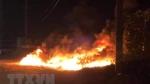Bình Định: Cháy bãi tập kết vật liệu xây dựng, thiệt hại 7 tỷ đồng