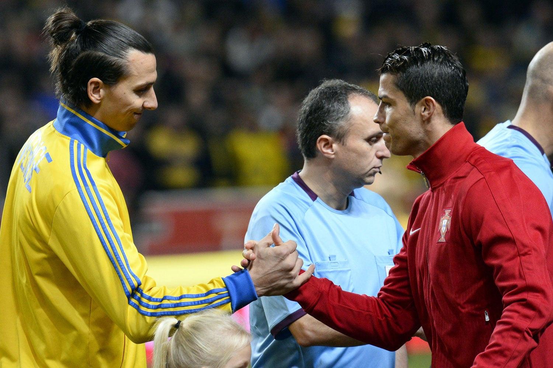 Ibrahimovic và Ronaldo không có nhiều cơ hội tham dự Olympic khi đang ở đỉnh cao sự nghiệp. Ảnh: Getty Images.