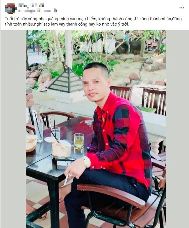 """""""Tuổi trẻ hãy xông pha, quăng mình vào mạo hiểm, không thành công thì cũng thành nhân, đừng tính toán nhiều, nghĩ sao làm vậy, thành công hay không nhờ vào ý trời"""", vị giám đốc viết trên Facebook trước khi bị bắt vì ma túy."""