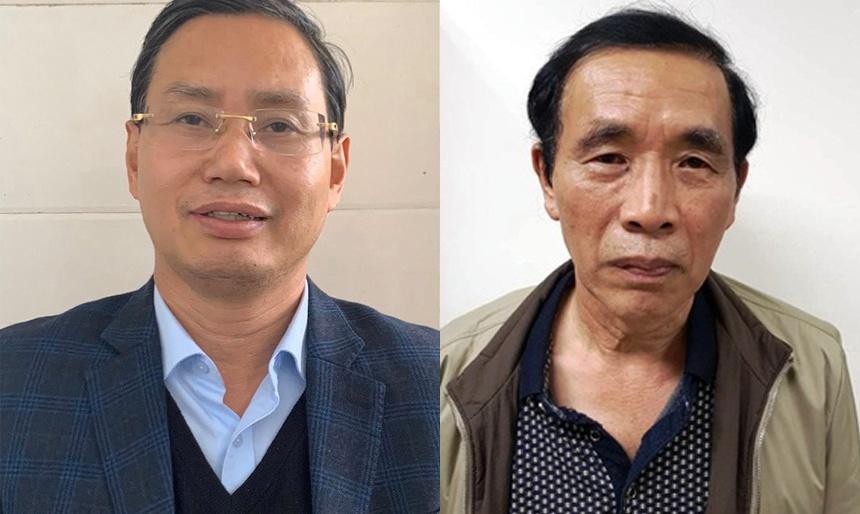Bị can Nguyễn Văn Tứ (trái) và Nguyễn Tiến Học. Ảnh: Bộ Công an
