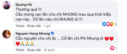 Các nghệ sĩ mong những điều tốt đẹp nhất đến với Phi Nhung.