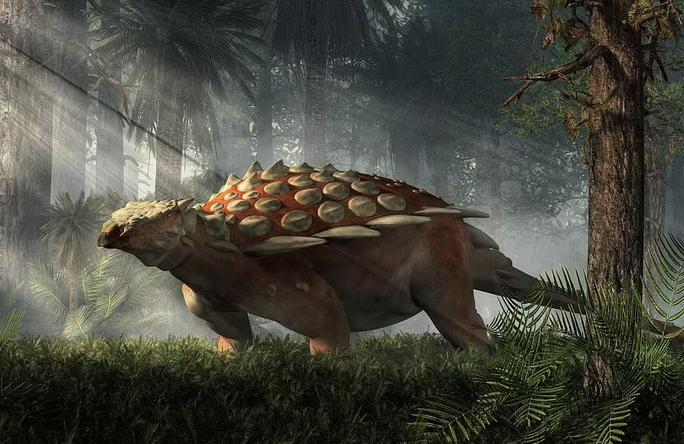 Chân dung một con ankylosaur. Ảnh: Shutterstock
