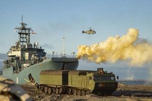 Chiến hạm Nga 'khạc lửa' trong tập trận ở Bắc Cực