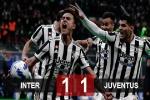Kết quả Inter 1-1 Juventus: 'Bà đầm già' đứt mạch toàn thắng
